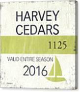 Beach Badge Harvey Cedars Canvas Print