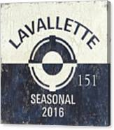 Beach Badge Lavalette Canvas Print