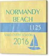 Beach Badge Normandy Beach 2 Canvas Print
