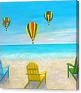 Beach Balloon Festival Canvas Print