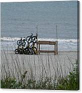 Beach Bicycles Canvas Print