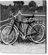 Beach Bicycles Canvas Print