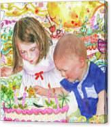 Beach Birthday Canvas Print