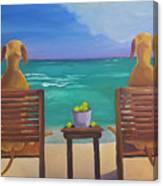 Beach Blondes Canvas Print