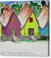 Beach Bungalows Canvas Print