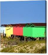 Beach Cabanas Canvas Print