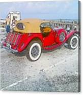 Beach Car Canvas Print