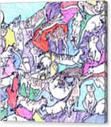 Beach Cats Canvas Print