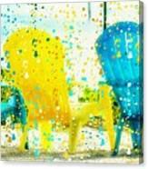 Beach Chair Print Canvas Print