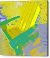 Beach Chair Work Number Six Canvas Print