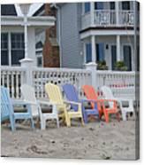 Beach Chairs - Awaiting Summer Canvas Print