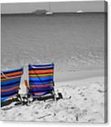 Beach Chairs 2  Canvas Print
