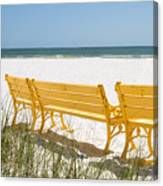 Beach Chairs By Darrell Hutto Canvas Print