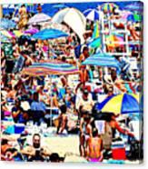 Beach Chaos Canvas Print