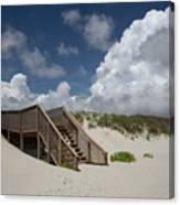 Beach Clouds Canvas Print
