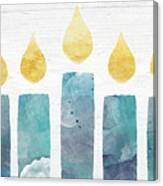 Beach Colors Menorah- Art By Linda Woods Canvas Print