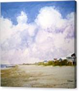 Beach Cottages Canvas Print