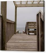 Beach Deck Canvas Print