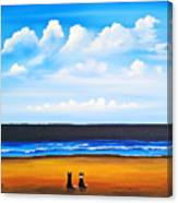 Beach Dogs Canvas Print
