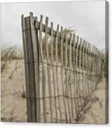 Beach Fence Canvas Print