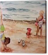 Beach Fun. 1 Canvas Print