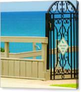 Beach Gate Canvas Print