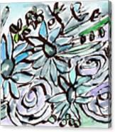 Beach Glass Flowers 2- Art By Linda Woods Canvas Print