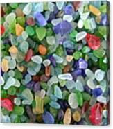 Beach Glass Mix Canvas Print