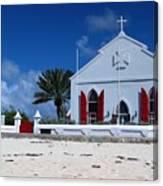 Beach Grand Turk Church Canvas Print