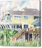 Beach House At Wrightsville Beach Canvas Print