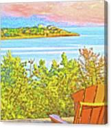 Beach House On The Bay Canvas Print