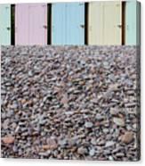Beach Huts X Canvas Print