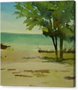 Beach In Anna Maria Florida Canvas Print