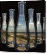 Beach In Bottles Canvas Print