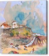 Beach In Ericeira In Portugal Canvas Print