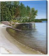 Beach In Muskoka Canvas Print