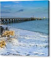 Beach La Tranche Sur Mer Canvas Print