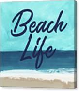 Beach Life- Art By Linda Woods Canvas Print