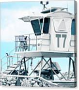 Beach Lifeguard Tower Canvas Print