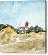 Beach Light House Canvas Print