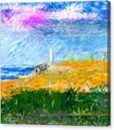 Beach Lighthouse Canvas Print