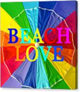 Beach Love Umbrella Spca Canvas Print