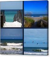 Beach Multiples Canvas Print