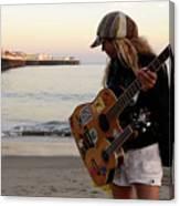 Beach Musician Canvas Print