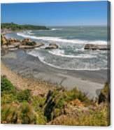 Beach Near Cape Foulwind Canvas Print