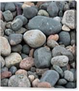 Beach Of Stones Canvas Print