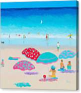 Beach Painting - A Golden Day Canvas Print