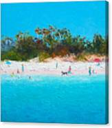 Beach Painting All Summer Long Canvas Print