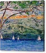 Beach Park View Canvas Print