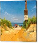 Beach Path Canvas Print